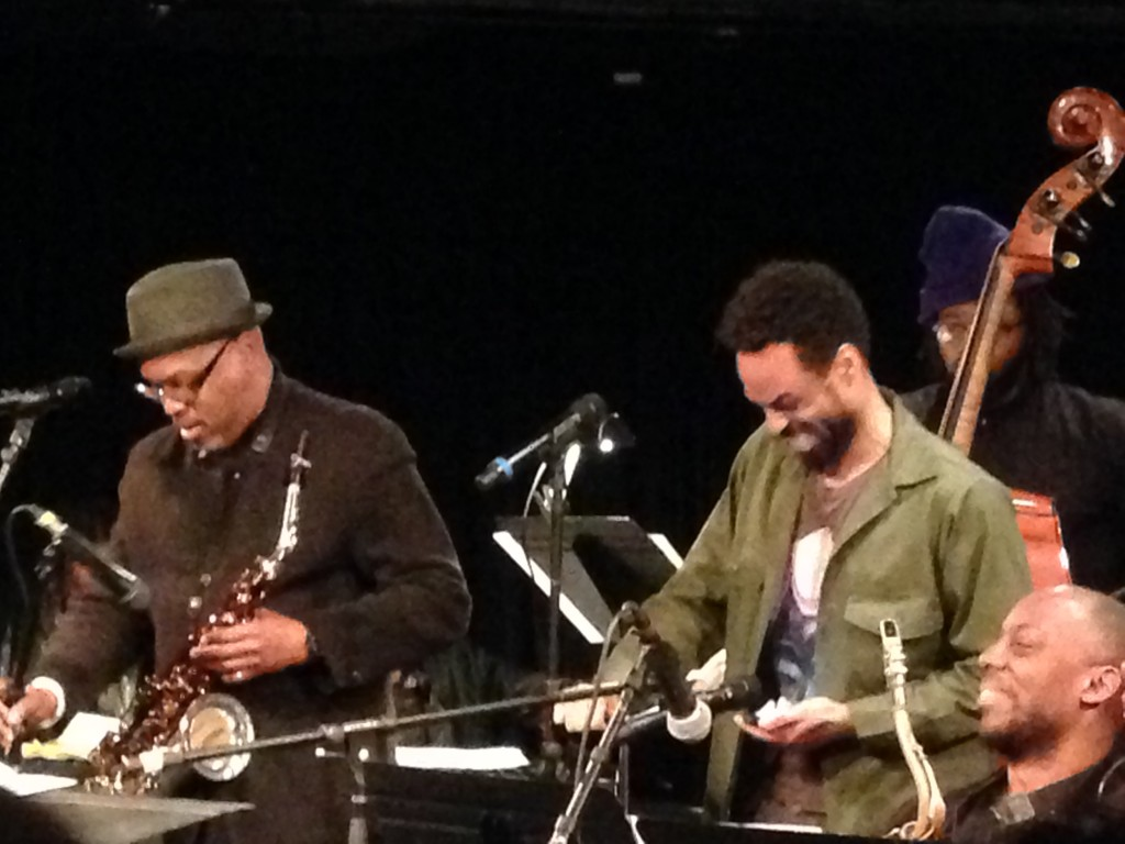 Greg Osby and Bilal, sitting in with the Revive Big Band
